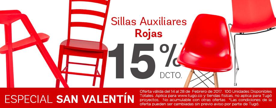 Tugo colombia for Sillas rojas cocina