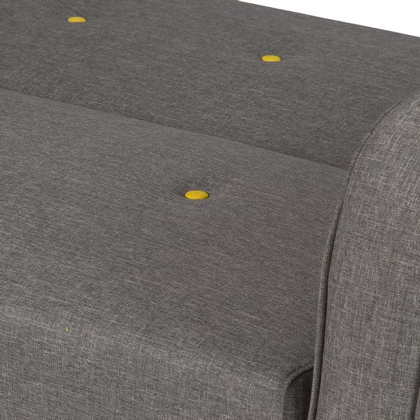 Sofacama-Clickclack-Unit-Tela-Gris-C-Botones-Amarillo