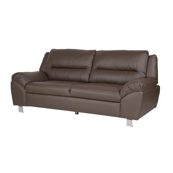 Sofa-3-Ptos-Battley--Cuero--Pvc-Cafe-