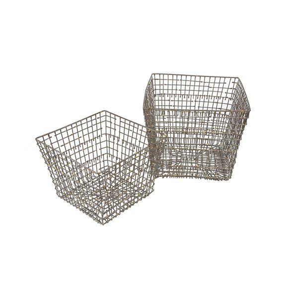 Set-2-Canasta-Cuad-Malla-Rustic-26-26-22Cm-Metal------------