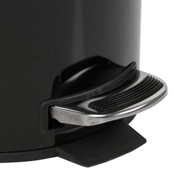 Papelera-Pedal-5Lt-20-30Cm-Metal-Plastico-Negro-------------