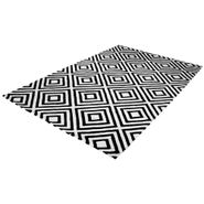 Tapete-Rhombus-150-240Cm-Lana-Blanco-Negro