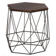 Mesa-Auxiliar-Hexagon-44.5-38.5-41.5Cm-Lam-Metal-Madera