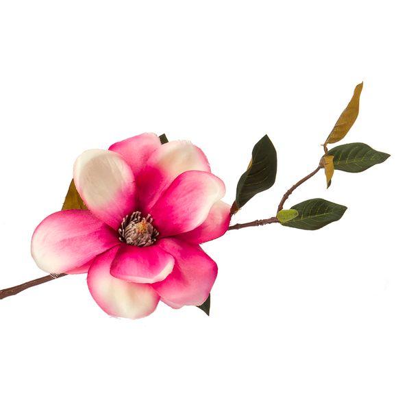Flor-Artificial-Magnolia-35Cm-Tela-Fucsia-------------------
