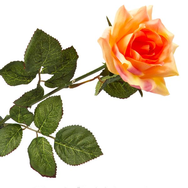 Flor-Artificial-Rosa-60Cm-Tela-Salmon-----------------------