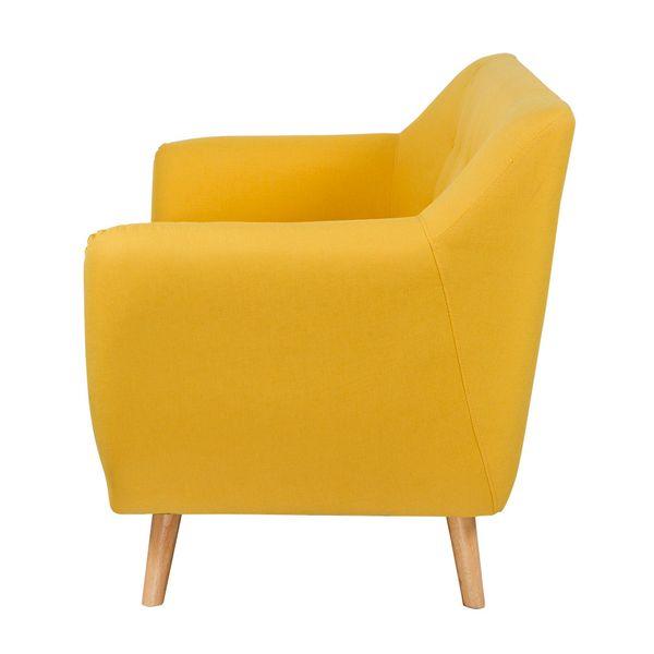 Sofa-3-Puestos-Retro-Patas-Madera-Tela-Amarillo