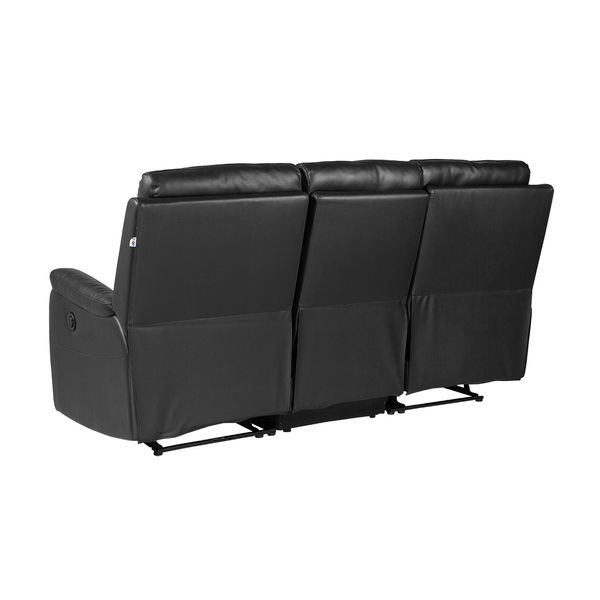 Sofa-3-Puestos-Reclinable-Electrica-Basilea-Cuero-Pvc-Negro-
