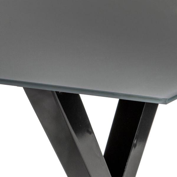 Mesa-De-Comedor-Aspa-160-90-75-Vidrio-Gris---Metal-Negro----
