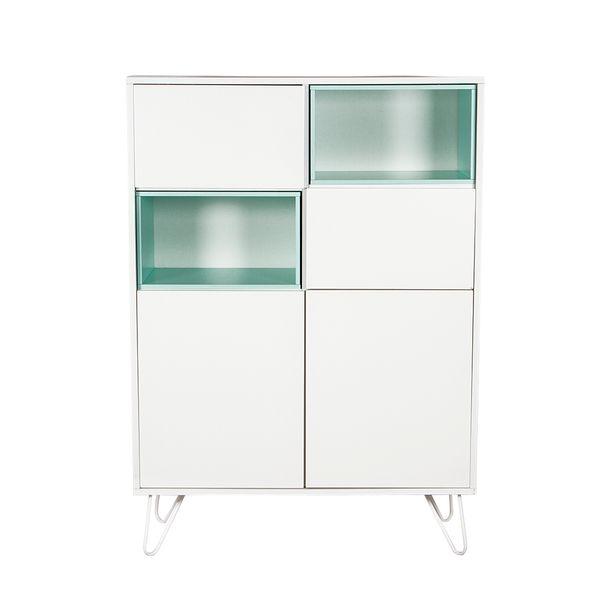 Buffet-4-Gav-Morris-100-40-140Cm-Mdf-Metal-Blanco-Verde-----