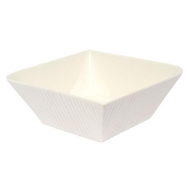 Bowl-Cuadrado-Fantastic-Ripple-19-19-7Cm-Porcelana-Blanco