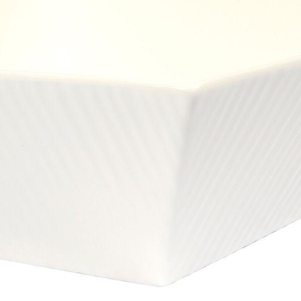 Bowl-Cuadrado-Fantastic-Ripple-24-24-8Cm-Porcelana-Blanco