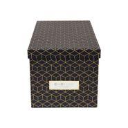 Caja-Organizadora-Silvia-165-295-15Cm-Negro-Dorado