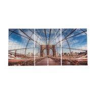 Set-3-Cuadros-Puente-50-35Cm-Acrilico-----------------------
