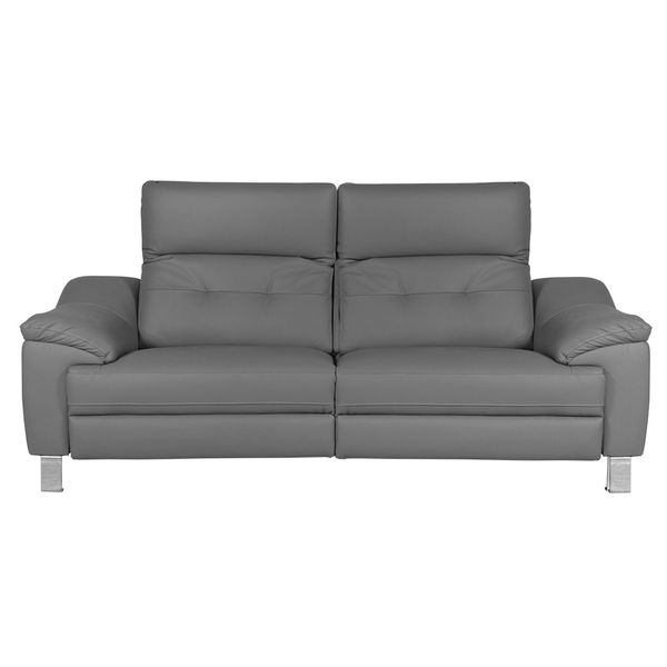 Sofa-3-Ptos-Reclinable-Bunny-Cuero-Pvc-Gris-----------------