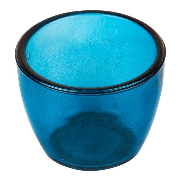 Botella-Pot-Alemania-8.5-8.5-6.5Cm-Vidrio-Azul-Profundo-----