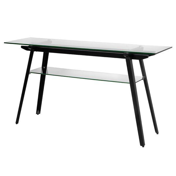 Consola-Monti-140-40-75-Vidrio-Transparente-Base-Metal-Negro