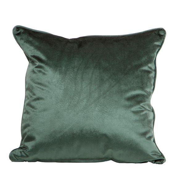 Funda-Cojin-S17-Basic-Velvet-45-45Cm-Poliester-Verde-Botella