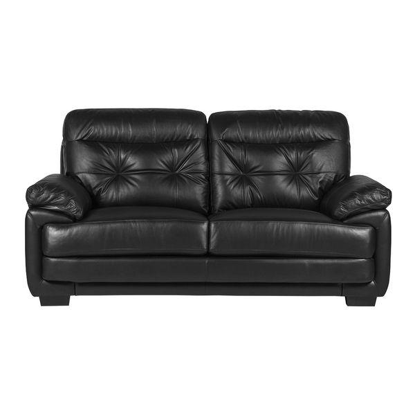Sofa-2-Puestos-Olivia-Cuero---Pvc-Negro---------------------