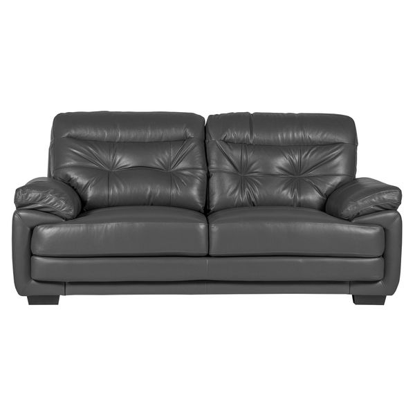 Sofa-3-Puestos-Olivia-Cuero---Pvc-Gris-Oscuro---------------