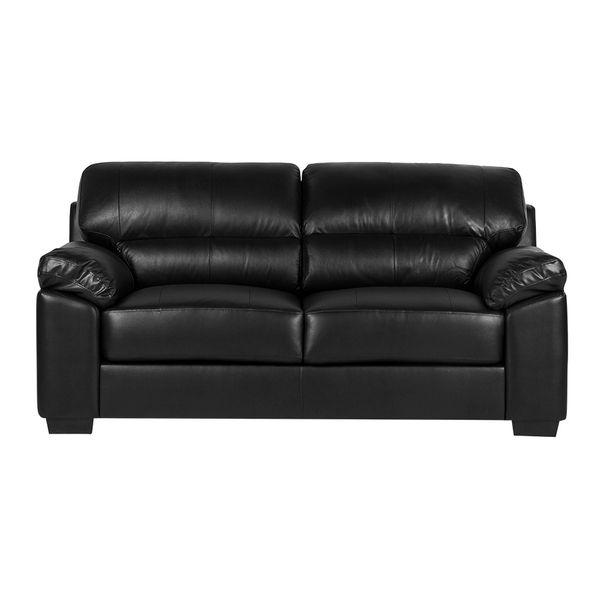 Sofa-2-Puestos-New-Firenze-Cuero---Pvc-Negro----------------