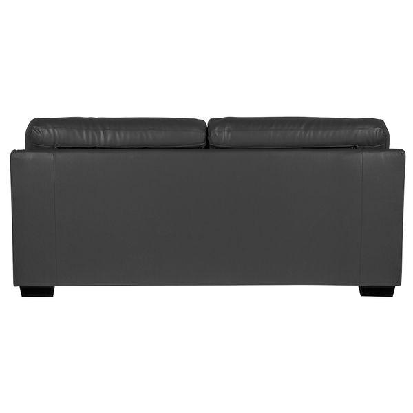Sofa-3-Puestos-New-Firenze-Cuero---Pvc-Gris-Oscuro----------