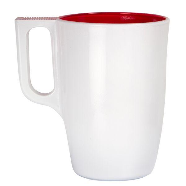 Mug-Sweet-85-12-11Cm-Vidrio-Blanco-Rojo--------------------