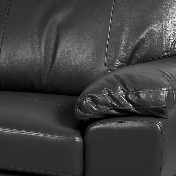 Sofa-2-Puestos-Modena-Cuero---Pvc-Gris-Oscuro---------------
