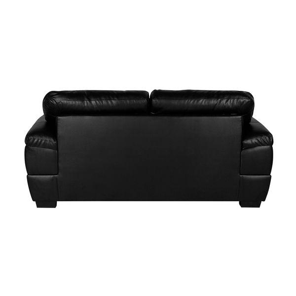 Sofa-2-Puestos-Modena-Cuero---Pvc-Negro---------------------
