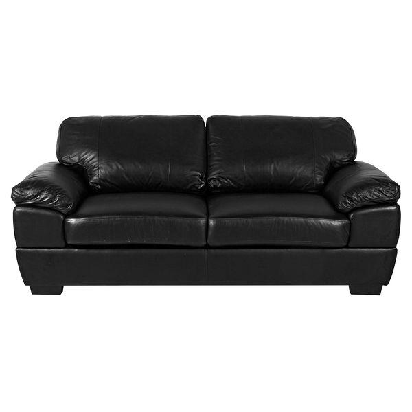 Sofa-3-Puestos-Modena-Cuero---Pvc-Negro---------------------