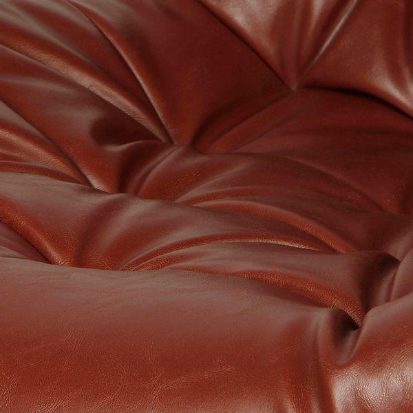 Poltrona-Mills-Cuero-Sintetico-Cafe-Base-Cromo--------------