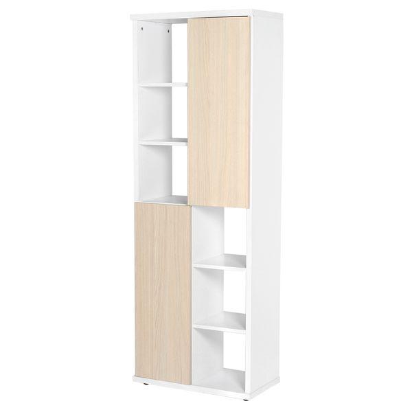 Biblioteca-2-Puertas-Bal-60-31-165Cm-Lam-Arena-Blanco-------