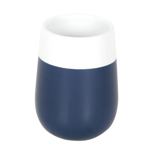 Vaso-Baño-Malta-8-8-10Cm-Ceramica-Azul-Blanco---------------