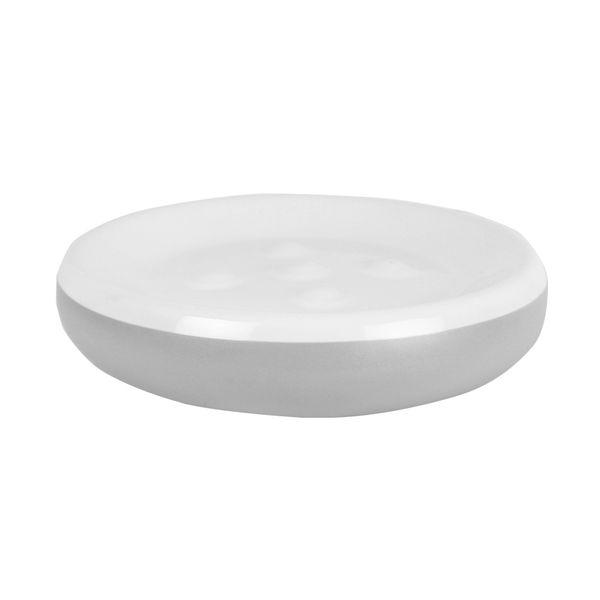 Jabonera-Malta-11-11-3Cm-Ceramica-Gris-Blanco---------------
