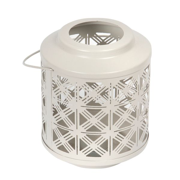P-Vela-Lantern-Trigon-15-15-17Cm-Metal-Taupe