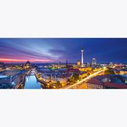 Cuadro-Berlin-Skyline-Sunset-50-125Cm-Vidrio
