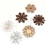 Navidad-C17-Set-6-Apliques-Copos-Madera-Multicolor----------