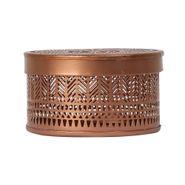 Caja-Redonda-Mosaico--13-8-Cm-Metal-Cobre