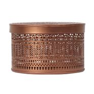 Caja-Redonda-Mosaico--15-10-Cm-Metal-Cobre