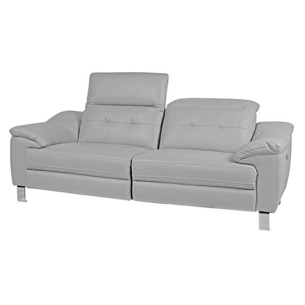 Sofa-3-Ptos-Reclinable-Bunny-Cuero-Pvc-Gris-Claro-----------