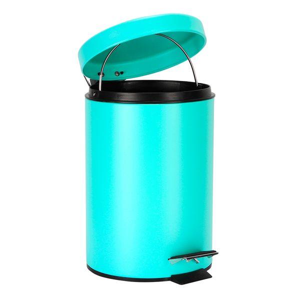 Papelera-Pedal-3Lt-17-255Cm-Metal-Plastico-Verde-Menta-----