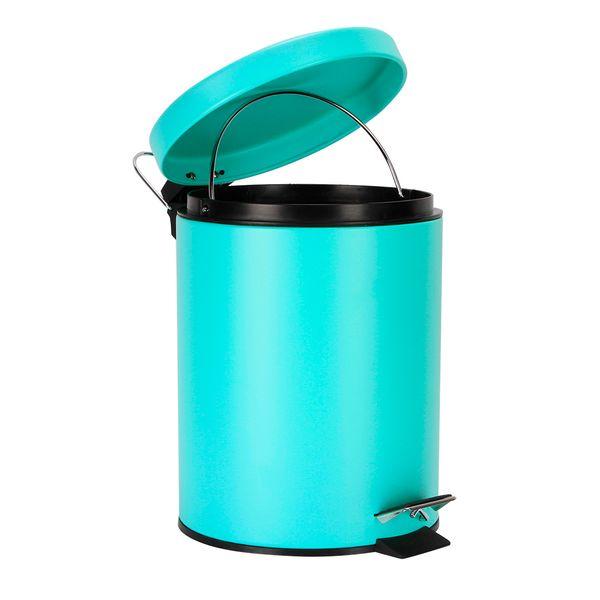 Papelera-Pedal-5Lt-205-275Cm-Metal-Plastico-Verde-Menta---