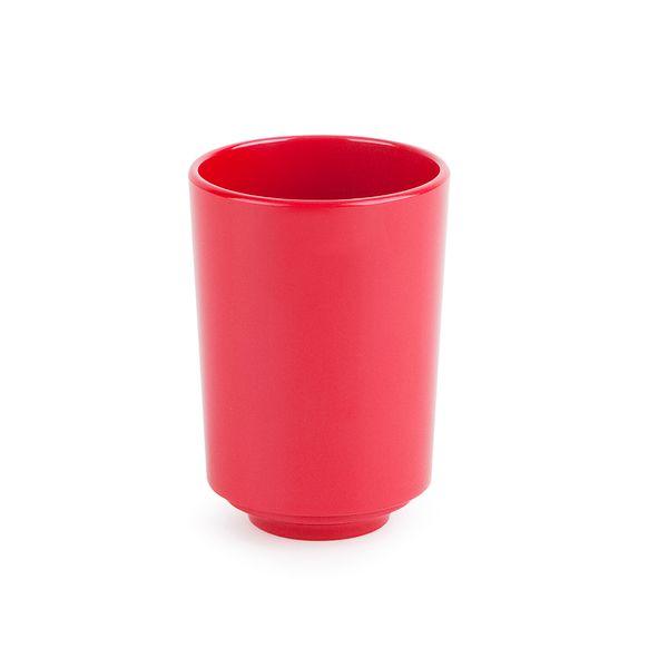 Vaso-Baño-Step-8-8-11Cm-Melamina-Rojo-----------------------