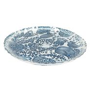 Plato-Flores-Hungria-22.5-22.5-1.5Cm-Vidrio-Azul------------