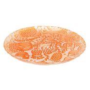 Plato-Flores-Hungria-22.5-22.5-1.5Cm-Vidrio-Naranja---------