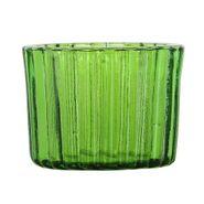 Botella-Pot-Rayas-9-9-12.5Cm-Vidrio-Verde-------------------