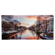 Set-3-Cuadros-Amsterdam-Canal-50-35Cm-Acrilico--------------