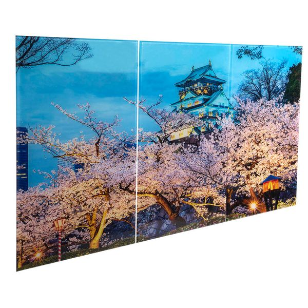 Set-3-Cuadros-Osaka-Castle-50-35Cm-Acrilico-----------------