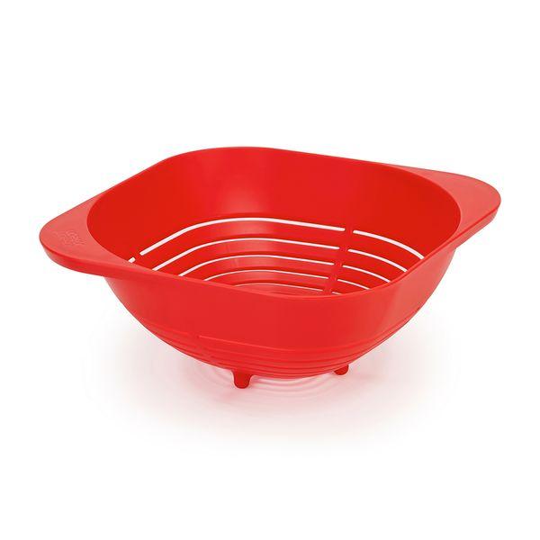 Colador-10.2-25-24.6Cm-Plastico-Rojo------------------------