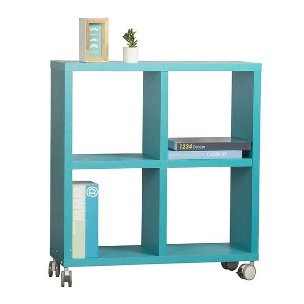 Biblioteca-Con-RuedaS-Mix-4-Repisas-Azul