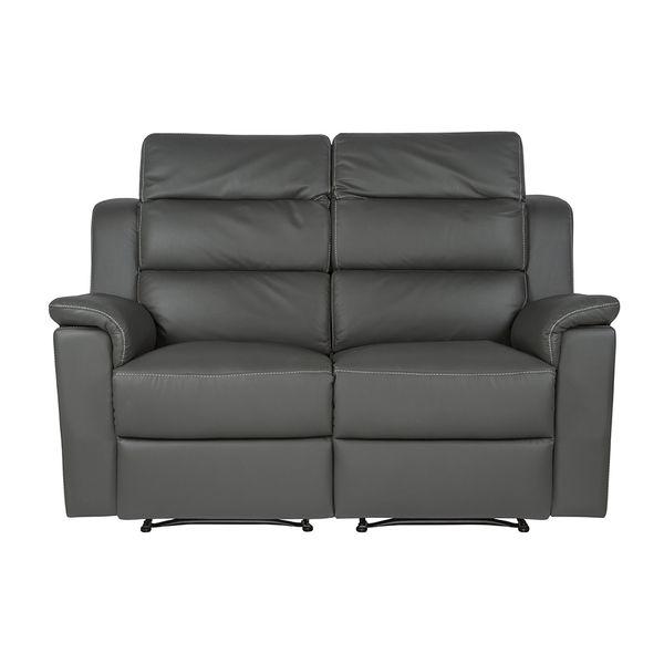 Sofa-2-Puestos-Reclinable-Manual-Britania-Cuero-Pvc-Gris-Cos-Bla